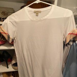 Womens white Burberry t shirt